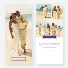 Merry & Married Holiday Cards for Newlyweds - Purple