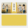 New Year Chevron Banner Cards - Yellow