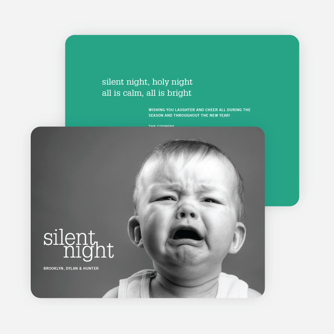 Not So Silent Night Cards - Green