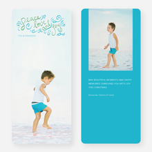 Peace, Love & Joy Holiday Photo Cards - Blue