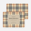 Plaid Corporate Holiday Cards - Beige