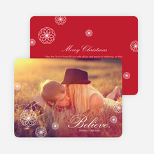 Retro Snowflake Holiday Cards - Red