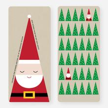 Santa's Everywhere Christmas Cards - Red