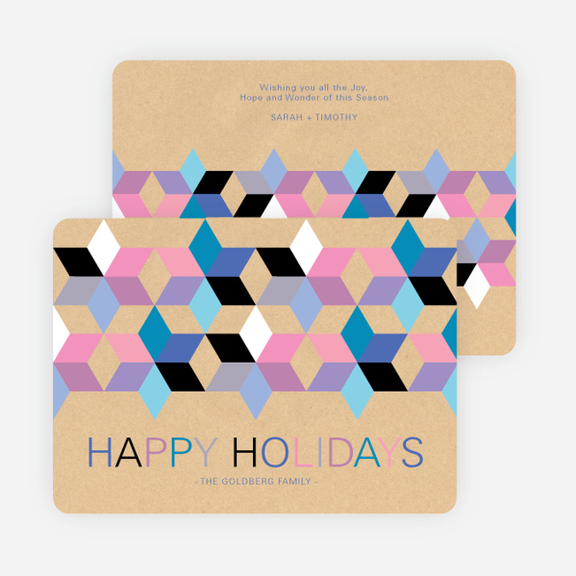 Seeing Stars Hanukkah Cards - Purple