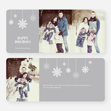 Snowflake Ornaments Holiday Cards - Gray