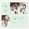 Snowflake Ornaments Holiday Cards - Green