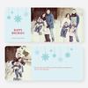 Snowflake Ornaments Holiday Cards - Blue