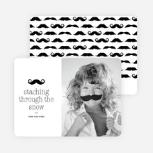 Staching through the Snow: Mustache Holiday Cards - Black