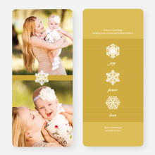 Unique Snowflake Holiday Cards - Yellow