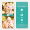 Unique Snowflake Holiday Cards - Blue