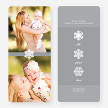 Unique Snowflake Holiday Cards - Gray