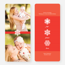 Unique Snowflake Holiday Cards - Red