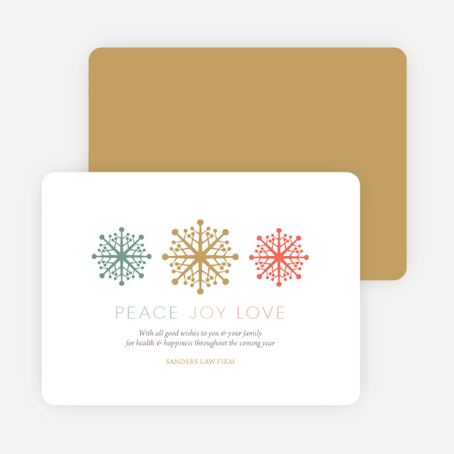 Custom corporate holiday cards with snowflake theme for Custom business holiday cards