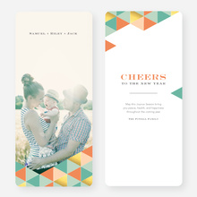 Golden Triangle Holiday Cards - Pink