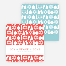 Holiday Icons for Joy, Peace & Love - Blue