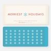 Merriest Holidays - Blue