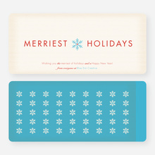 Merriest Holidays - Blue