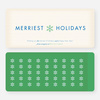 Merriest Holidays - Green