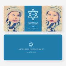 Star of David Hanukkah Cards - Blue
