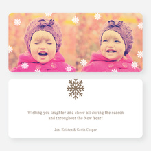 Fluttering Snowflake Holiday Photo Cards - Brown