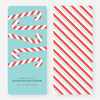 Sweet Holiday Candy Cane Cards - Blue