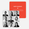 Brady Bunch Squares Holiday Cards for Small Business - Red