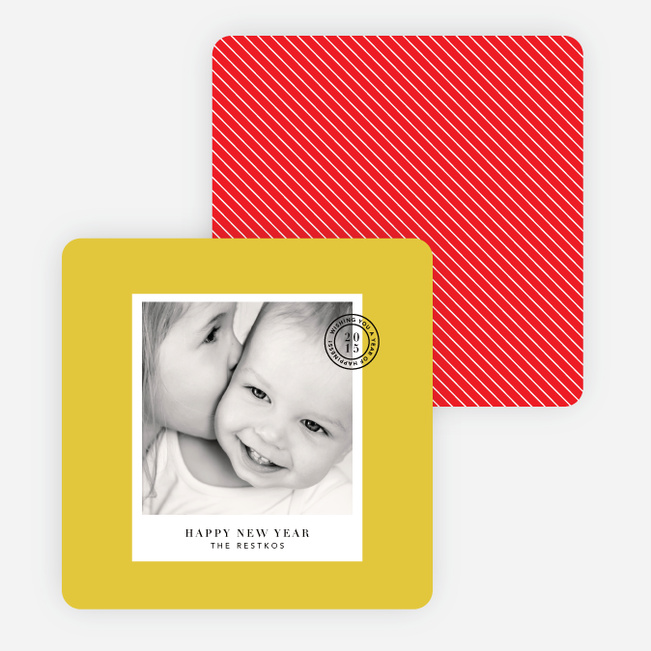 Cards to Put a Stamp on the New Year - Yellow