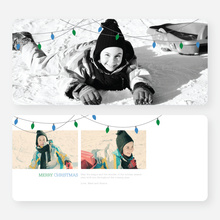 Christmas Lights Christmas Cards - Blue