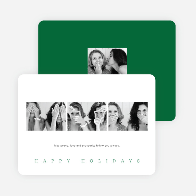Classic Photo Holiday Cards - Green