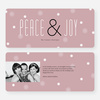 Floral Peace & Joy Holiday Greeting Cards - Red