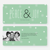 Floral Peace & Joy Holiday Greeting Cards - Green