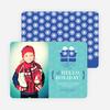 Hello Holidays Mittens - Blue