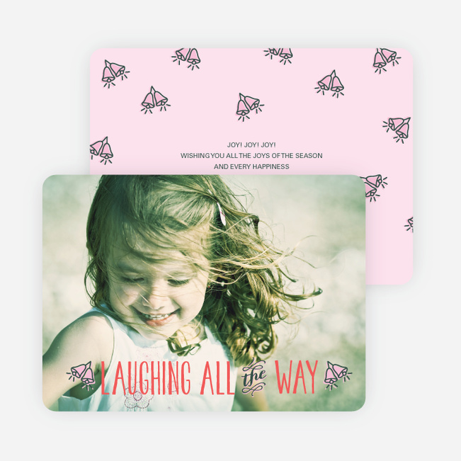 Holiday Cards: Laughing All the Way - Pink