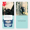 Holiday Typewriter Note Cards - Blue