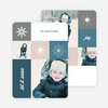 Uniquely Snowflake Holiday Cards - Blue