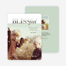 Blissful Holiday Cards - Blue