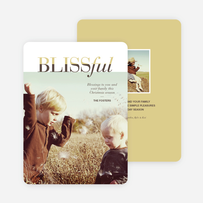 Blissful Holiday Cards - Yellow