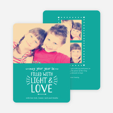 Christmas Cards Filled with Light & Love - Blue