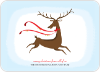 Reindeer Christmas Card - Front View