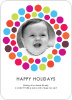 Holiday Dots Photo Cards - Front View