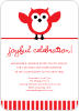 Owl Holiday Party Invitation - Front View