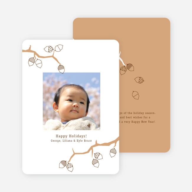 Acorns and the Circle of Life Holiday Photo Cards - Caramel