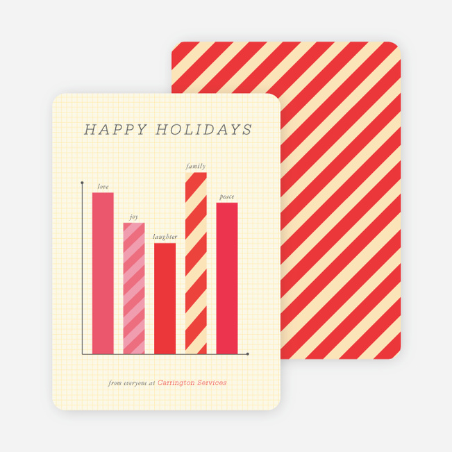 Business holiday cards corporate holiday cards paper culture bar graph corporate holiday cards red reheart Gallery