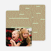 Christmas Words Photo Card - Sage Green