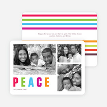Colorful Peace Holiday Cards - Multi