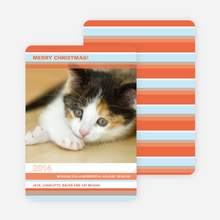 Colorful Stripes Holiday Photo Cards - Cinnamon