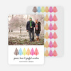 Colorful Trees Holiday Photo Cards - Fuschia