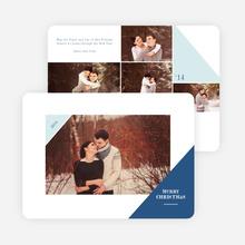 Corners Christmas Photo Cards - Blue