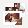 Corners Christmas Photo Cards - Brown