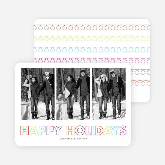 Curly Q Holiday Cards - Multi